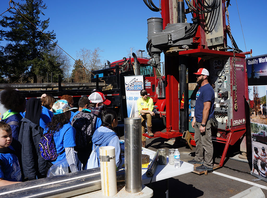 Water 4 Life Community Event showing the rig