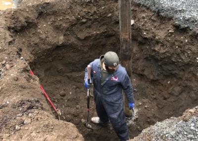 pit excavated